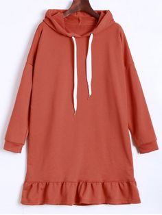 GET $50 NOW | Join RoseGal: Get YOUR $50 NOW!http://www.rosegal.com/long-sleeve-dresses/hooded-drawstring-flounce-dress-903989.html?seid=6361886rg903989