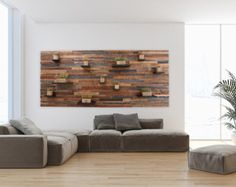 Reclaimed wood wall art 37x24x5 Large art by CarpenterCraig | Etsy