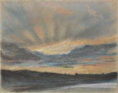 Eugène Delacroix: Sunset (L.2000.64) | Heilbrunn Timeline of Art History | The Metropolitan Museum of Art
