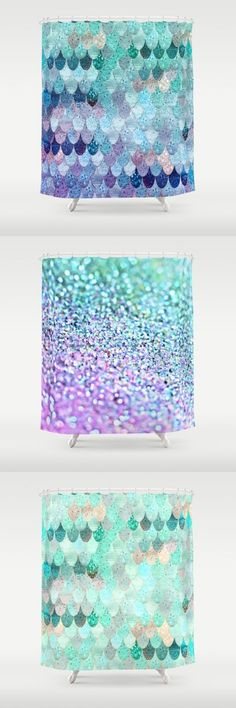 technically this is a shower curtain but I think the mermaid scales effect would make a neat quilt