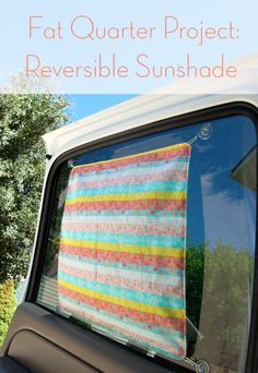 Reversible Sunshade  ...  free tutorial.  I am going to make these for my driver and passenger windows to keep the heat out when I park!