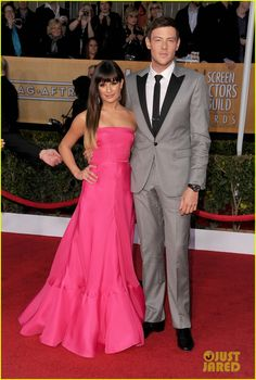 Lea Michele (prob. will be Monteith) in a strapless Valentino