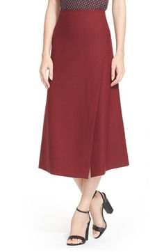 Theory 'Anneal' Wool Blend Midi Skirt | Nordstrom