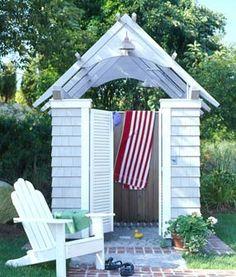 outdoor cottage shower