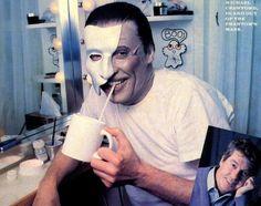Michael Crawford in his dressing room between shows Phantom of the Opera Frank Spencer, Sarah Brightman, Sing To Me, Phantom Of The Opera, Crowd, Musicals, Actors, The Originals, Film