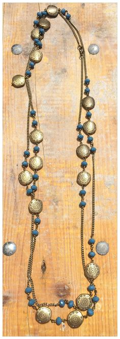 DIY necklace!!!!<3 Gold and color
