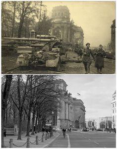Berlin | 1933-45+. Nach der Schlacht von Berlin. Vergleich, Reichstags. Post WWII Berlin. Post WWII