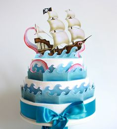 'The Kraken' printable cake decoration