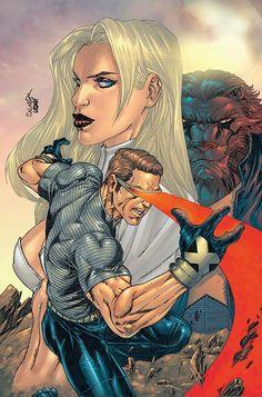 X-Men - Cyclops and Emma Frost by Salvador Larocca