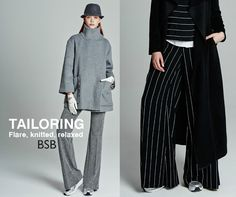 FLARE KNITTED RELAXED  Find the Lookbook trousers here >> http://bit.ly/1MMRxbe & here >> http://bit.ly/1KZPDAp Shop the BSB Fashion lookbook online at www.bsbfashion.com