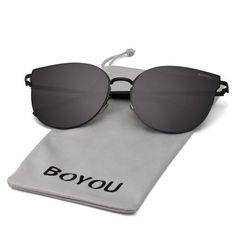 BOYOU Elegant Classic Metal Frame Unisex Aviator Sunglasses