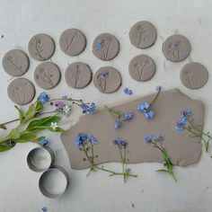 Browse unique items from damsontreepottery on Etsy, a global marketplace of handmade, vintage and creative goods. Wood Ceramic Tiles, Glazed Ceramic, Polymer Clay Crafts, Polymer Clay Jewelry, Flower Stamp, Diy Décoration, Dry Clay, Clay Projects, Clay Creations