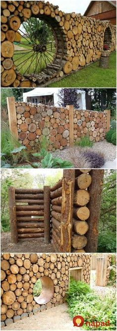 Amazing Shed Plans - Cordwood fences More Now You Can Build ANY Shed In A Weekend Even If You've Zero Woodworking Experience! Start building amazing sheds the easier way with a collection of shed plans! Garden Fencing, Garden Art, Garden Sheds, Outdoor Projects, Garden Projects, Diy Projects, Design Projects, Outdoor Decor, Cedar Wood Fence
