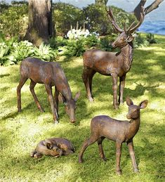 Our Striking Fiberglass Deer Garden Statuary Adds A Gentle, Pastoral  Feeling To Your Landscape.