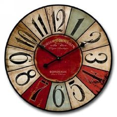 Shabby Chic Multi-Colored Wall Clock   Overstock.com Shopping - The Best Deals on Accent Pieces