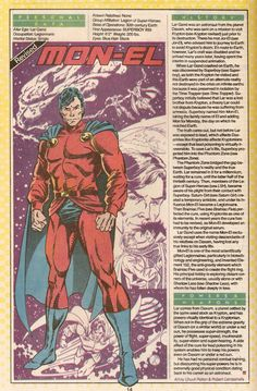 WHO'S WHO CLASSIC – MON-EL (POST-CRISIS) | FORTRESS OF BAILEYTUDE