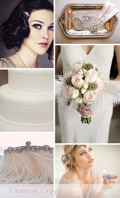 1920's Wedding Style. Feather + Pearls = Glam! Gotta Love!!!!!