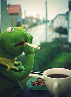 Kermit, behind the scenes.