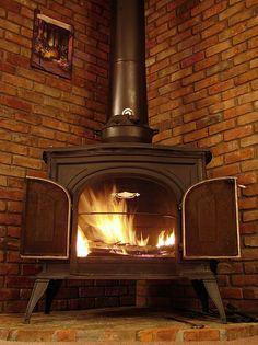 corner wood stove - Google Search
