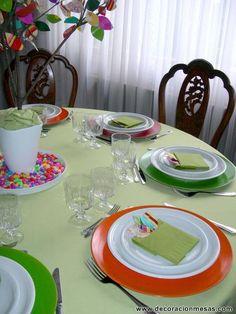 decoracion mesa colores 4 | Flickr: Intercambio de fotos