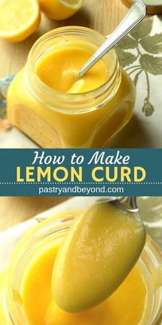 Homemade Lemon Curd-You can make this silky and tangy homemade lemon curd with only 4 ingredients! This easy recipe is a delicious filling for sweet treats: cakes, tarts, cookies, etc. Recipes with few ingredients Homemade Lemon Curd Lemon Desserts, Lemon Recipes, Easy Desserts, Sweet Recipes, Easy Recipes, Easy Lemon Curd, Lemon Curd Filling, Lemon Bars, Lemon Curd Cake