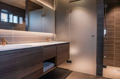 Singelfamily house  Built: 2016 Architect: Marita Hamre Furniture: Panta Rei, Antonio Lupi Tiles: Beige & Brown, Mosa Tiles