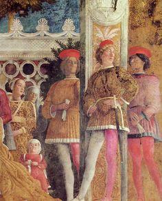 1471-1474 Andrea Mantegna - The Court of Mantua (details)