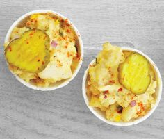 Eggy Potato Salad with Pickles via Epicurious