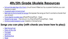 List of mostly current songs suitable for ukuleles