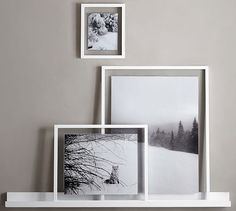 Floating Wood Gallery Frame - White - Pottery Barn