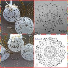Crochet Patterns Christmas Photo only. No pattern - Salvabrani - SalvabraniAnges au crochet Plus - SalvabraniWedding Table Centerpiece Crochet Candle Holders by VasilisaSkaska - SalvabraniBeautiful eggs with crochet - SalvabraniBeautiful Crochet bells, se Christmas Tree Hooks, Crochet Christmas Decorations, Crochet Christmas Ornaments, Christmas Crochet Patterns, Crochet Decoration, Holiday Crochet, Christmas Baubles, Christmas Crafts, Christmas Knitting