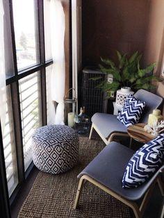 50 cozy apartment balcony decorating ideas - Home Decoration Apartment Balcony Decorating, Apartment Balconies, Cozy Apartment, Apartment Interior, Apartment Living, Apartment Therapy, Apartment Ideas, Couples Apartment, Interior Balcony