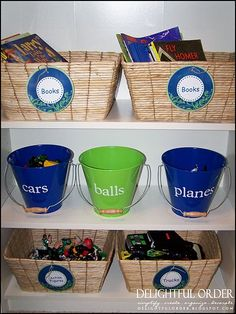 Storage ideas for the boys' room