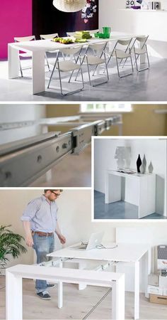 Goliath Table   3 Extreme Pull-Out Dining Tables (Affordable) Expand Furniture, Transforming Furniture, Folding Furniture, Space Saving Furniture, Furniture For Small Spaces, Diy Furniture, Furniture Design, Barbie Furniture, Garden Furniture