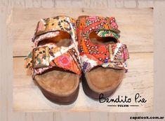 sandalias bordadas y forradas by Bendito Pie Verano 2015 | Zapalook - Moda en Zapatos 2016