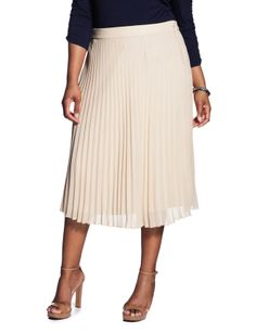 Chambray, Pleated midi skirt and Midi skirts on Pinterest
