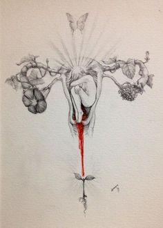 menstruação sagrado feminino Mais - not sure that I'd ever get anything like this tattooed but it is amazing art! Wicca, Magick, Arte Dope, Moon Time, Sacred Feminine, Feminist Art, Foto Art, Erotic Art, Art Inspo