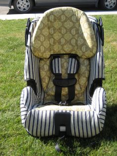 Laura Thoughts: Car Seat Re-cover 2