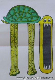 Geburtstagskarte mit Schildkröte und Überraschung
