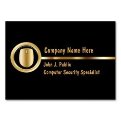 Security Specialist Business Cards