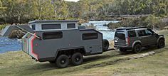 Extreme RV: after crossing the water it is ready for camping :-) Enclosed Trailer Camper, Off Road Camper Trailer, Camper Trailers, Campers, Off Road Rv, Camping Survival, Recreational Vehicles, Specs, Road Trip