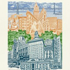 A new Oakland, CA illustration! Jammed pack with all that makes Oakland cool!