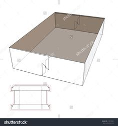 Tray Box With Blueprint Layout Stock Vector Illustration 170578391 : Shutterstock