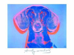 Portrait of Maurice - Andy Warhol. Just another reason I love Mr. Warhol. This is his beloved dachsund Maurice. Picasso also owned dachshunds, just FYI.