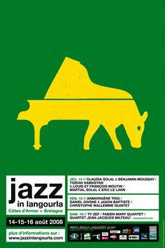 Jazz In langourla 2008, Visuel Eric Collet