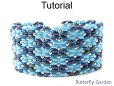 Beaded SuperDuo Butterfly Garden Bracelet Beading Pattern Tutorial | Simple Bead Patterns