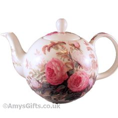 V Brompton Rose Fine Bone China Teapot