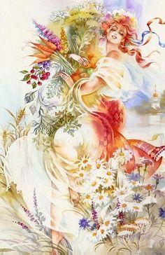 Summer 2 , painting by Starovoitova , Ukraine , from Iryna with love