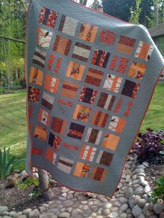 FAll Quilt - love the gray
