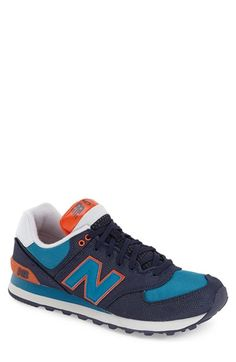 New Balance - Winter Harbor Collection' Sneaker (Men) Best Sneakers, Running Sneakers, Running Shoes For Men, Mens New Balance 574, Bright Shoes, Sneak Attack, Sneakers Street Style, Sneakers Fashion Outfits, Me Too Shoes
